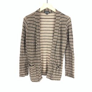 About A Girl Brown Black Striped Cardigan Sz S